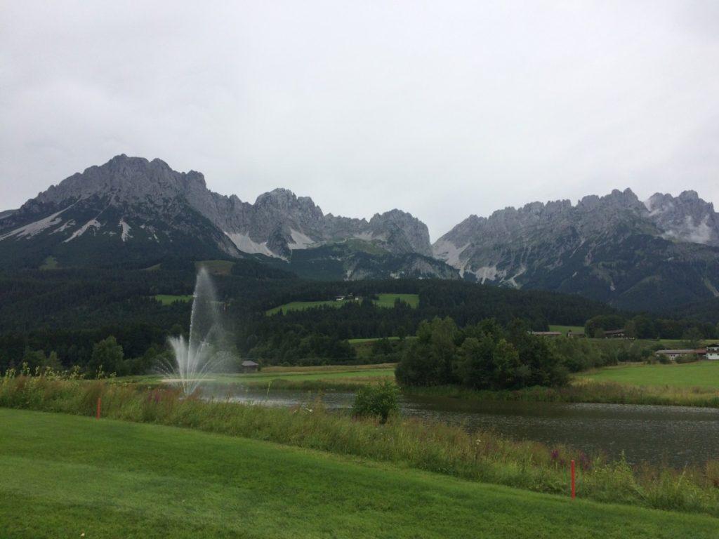 Ellmau vodotrysk na hřišti - Golf Club Ellmau